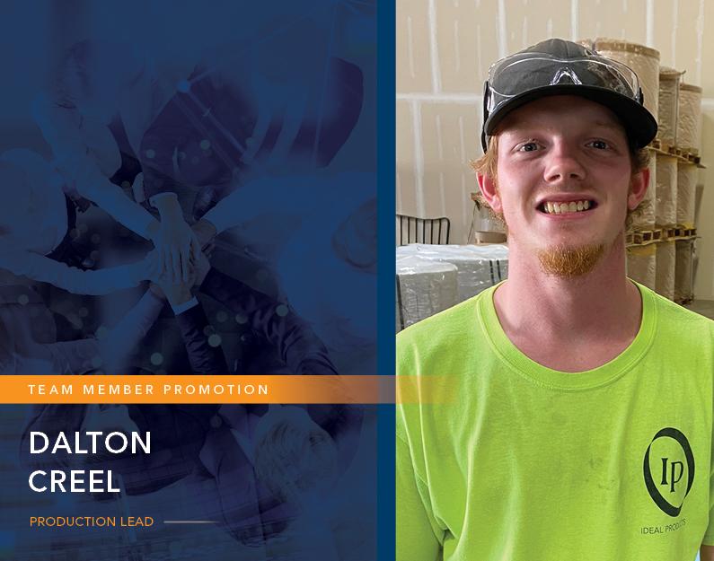 Congratulations to Our New Production Lead—Dalton!